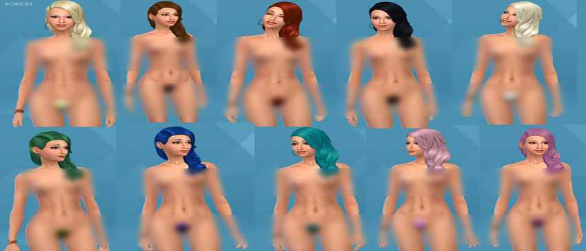 Nude mod for the sims 4